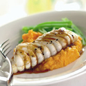 Grilled Monkfish with Sweet Chili Glaze