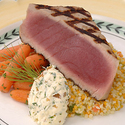 Grilled Florida Yellowfin Tuna with Dill-Onion Butter